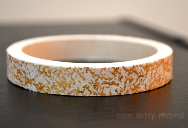 Gold Speckle Bracelet with Decoupage