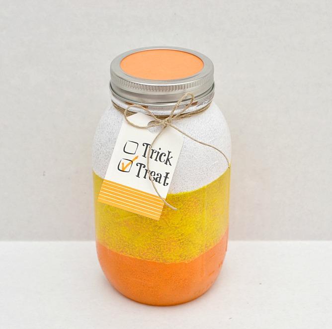 candy corn jar