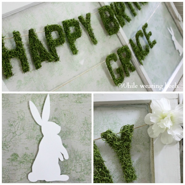 moss letter Collage