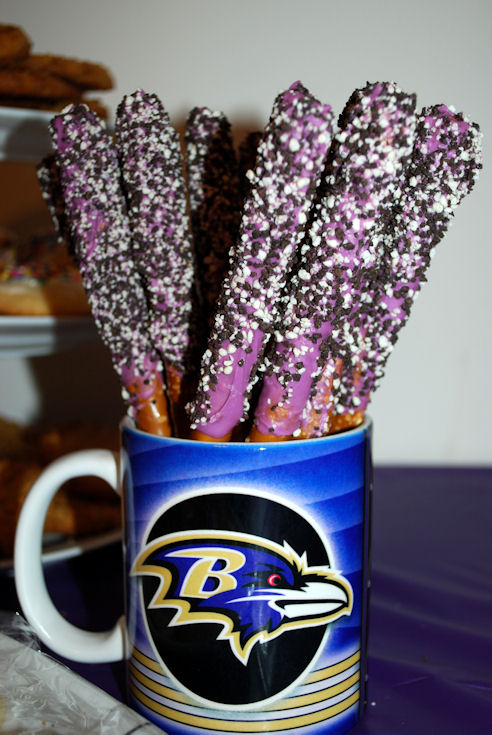 Candy Coated Pretzels #Ravens
