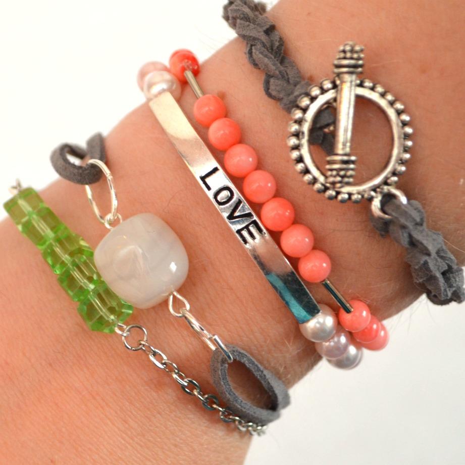 Easy DIY Stacking Bracelets - Amy Latta Creations