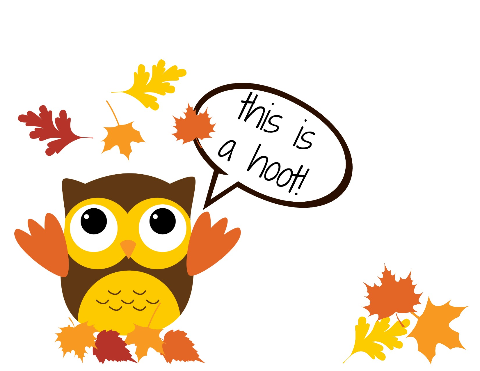 Thankful Clip Art Printable owl card