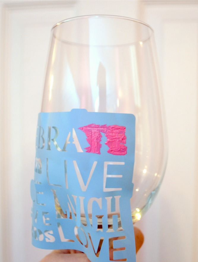 Hand painted wine glass amy latta creations for Glass painting templates