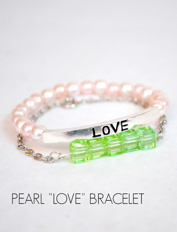 Pearl Love Stacking Bracelet