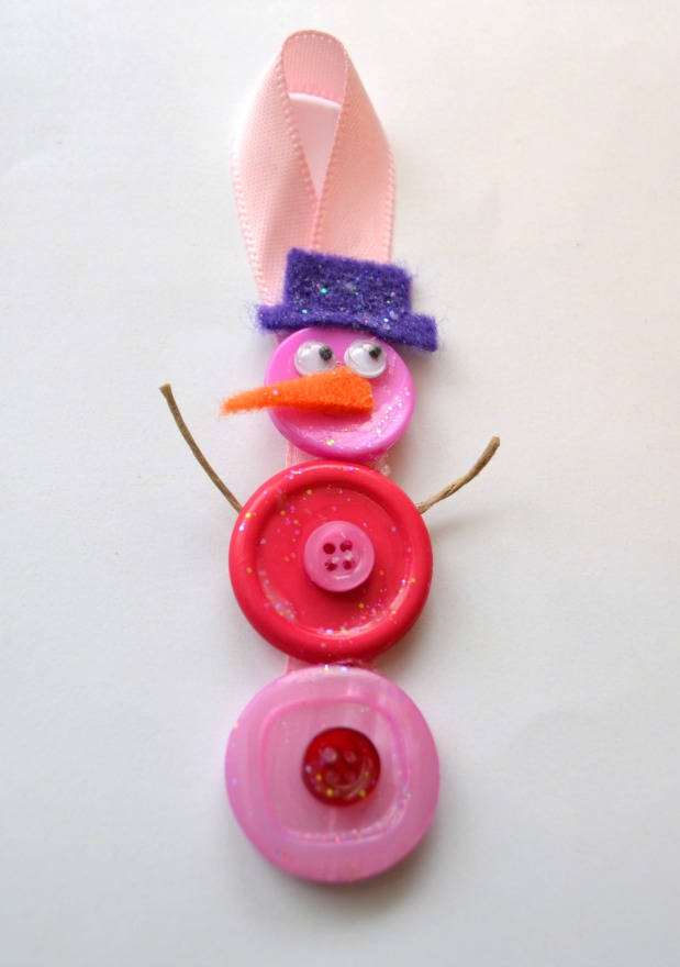 Button Snowman Ornament