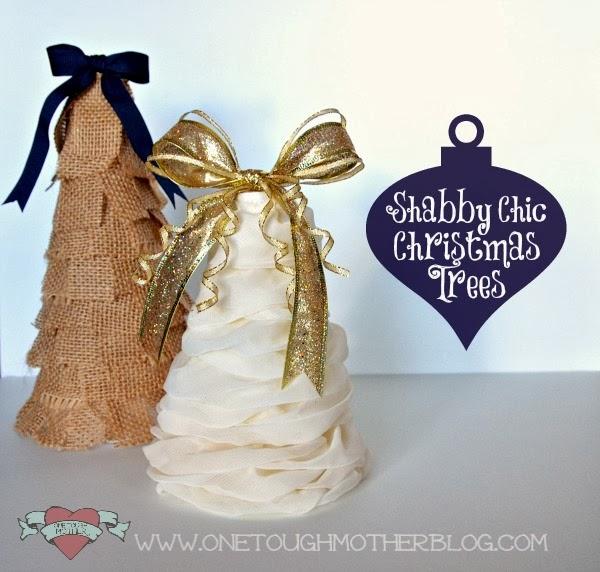 Honestly Craftable: DIY Shabby Chic Christmas Trees
