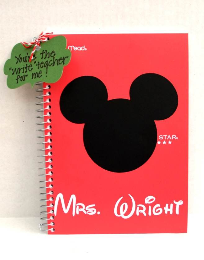 Silhouette Vinyl Mickey Mouse Notebook
