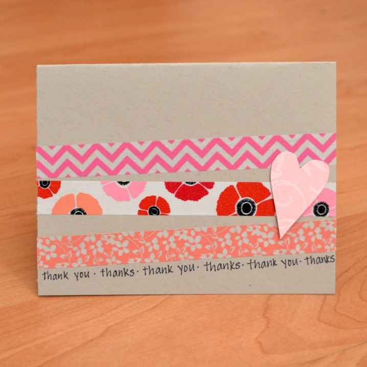 washi tape card