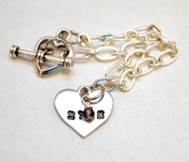 Hebrew Beloved Heart Bracelet