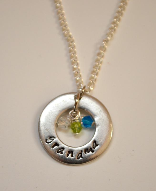 Handstamped Grandma Necklace