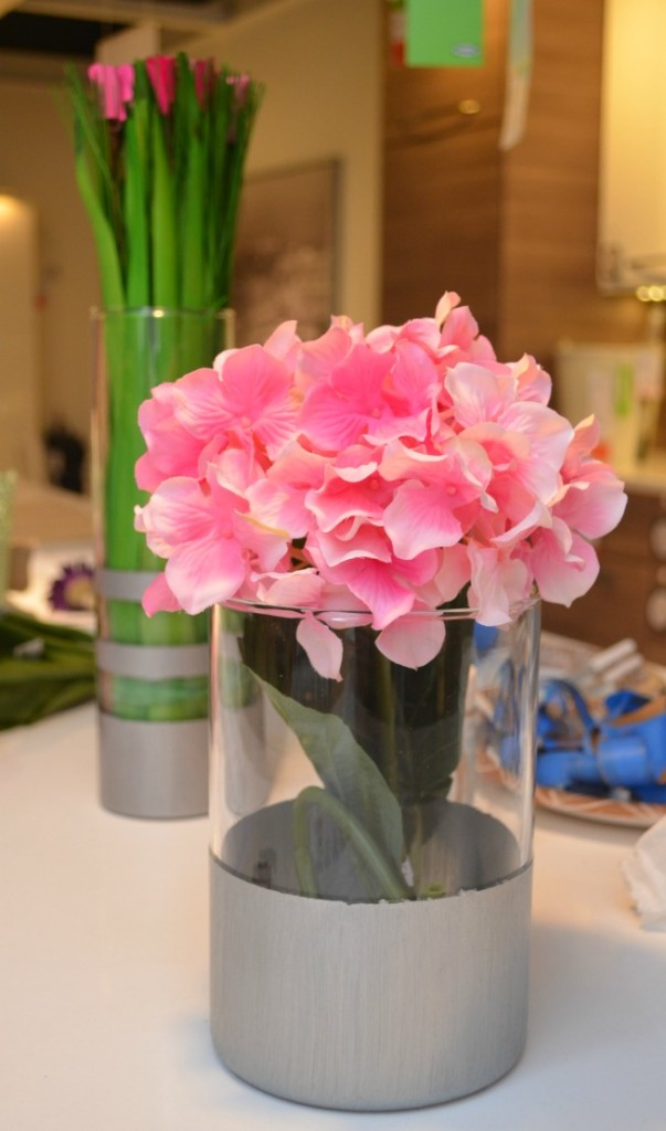 Metallic Accent Vases