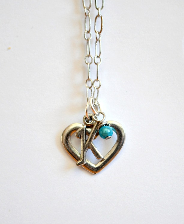Monogram Heart Pendants
