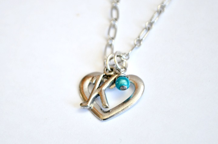 Monogram Heart Necklaces