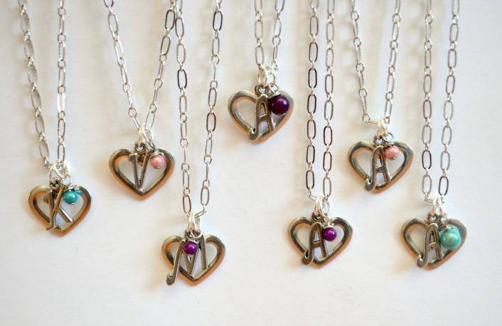 Monogram Heart Pendants
