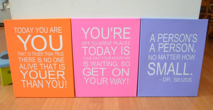 Dr. Seuss Quote Canvases
