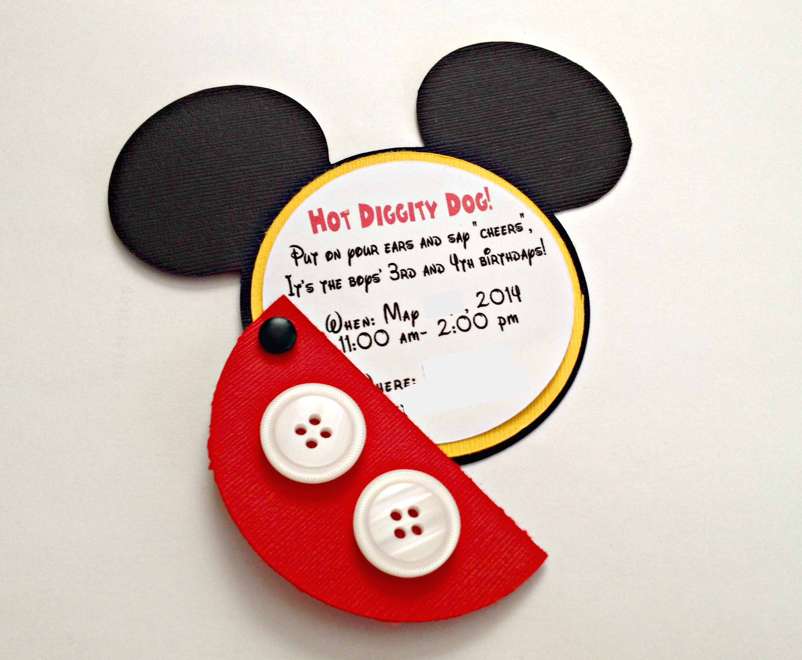 sample mick cute mickey mouse birthday invitation. this super cute ...