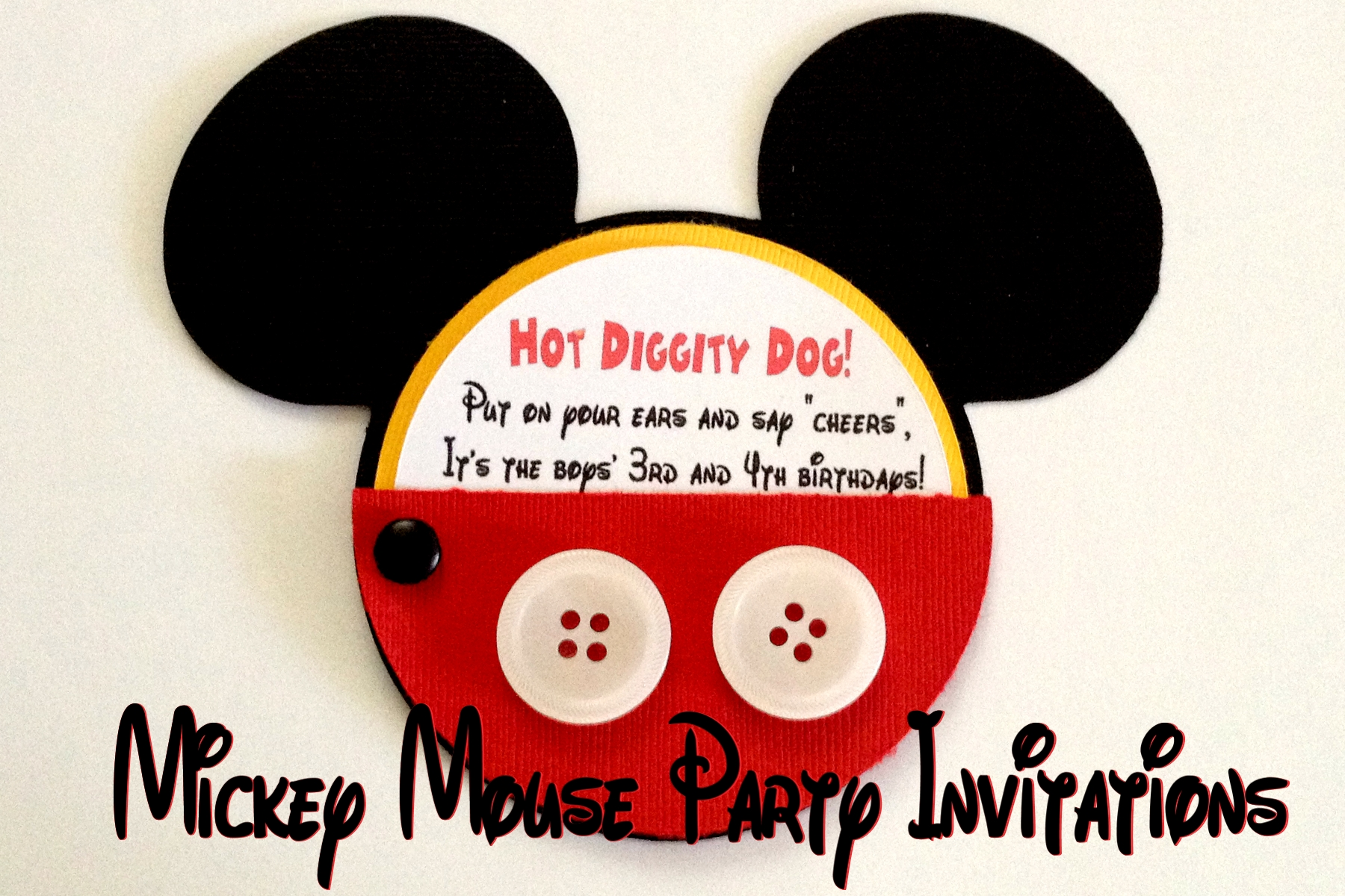mickey mouse party invitations one artsy mama
