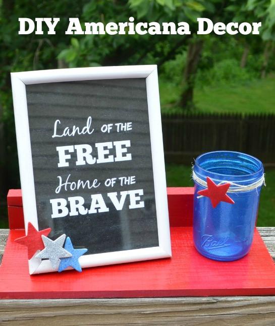 Americana Decor with Krylon
