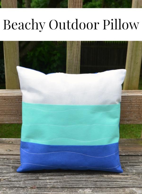 Beachy Outdoor Pillow