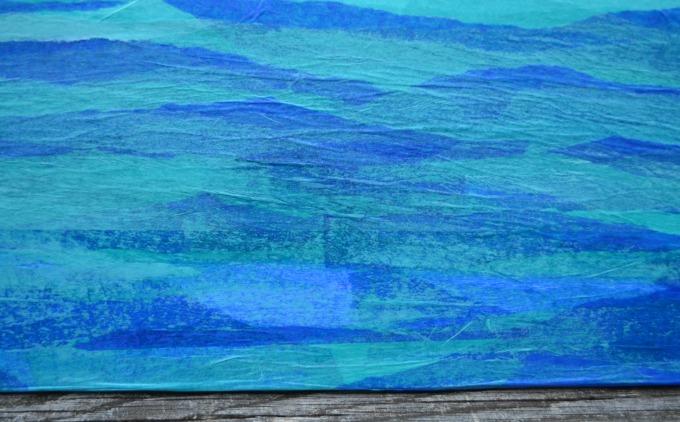 Tissue Paper Canvas Art