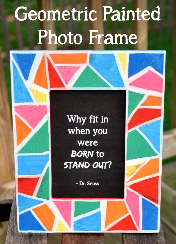Geometric Painted Photo Frame