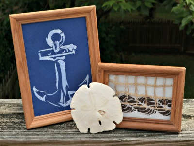 Nautical Stenciled Decor with Anchor