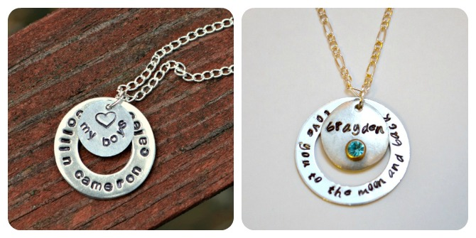 Metal stamped washer necklaces amy latta creations metal stamped washer necklaces aloadofball Choice Image