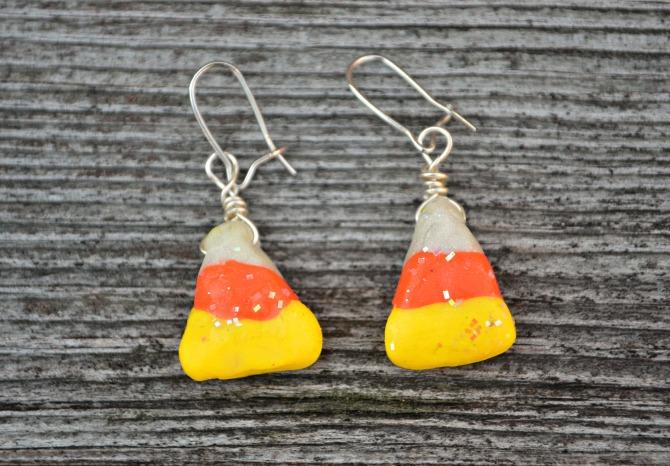 Candy Corn Earrings
