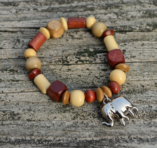 Wooden Elephant Bracelet