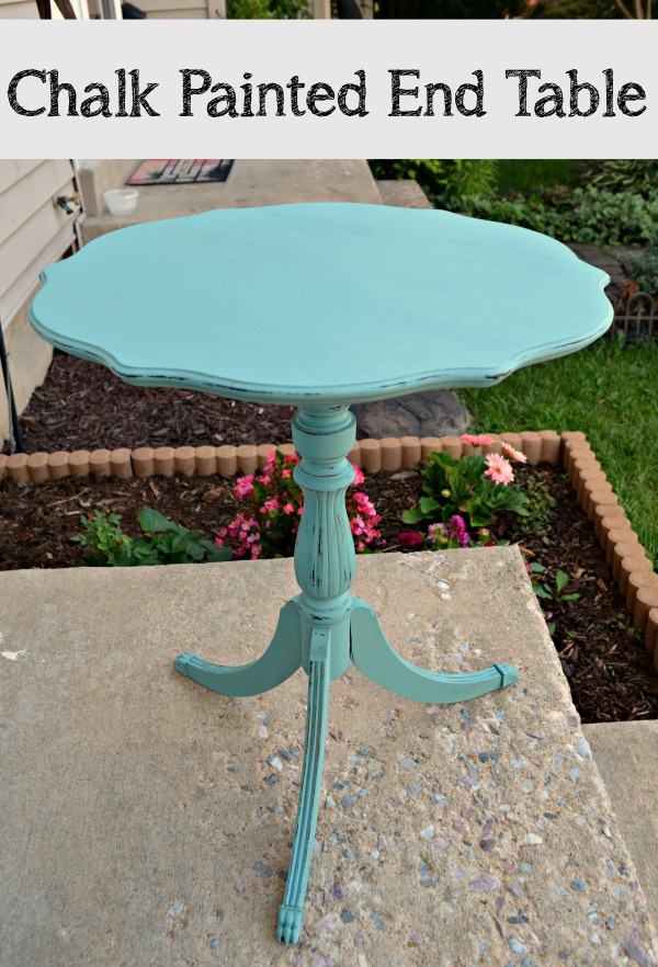 Chalk Painted End Table