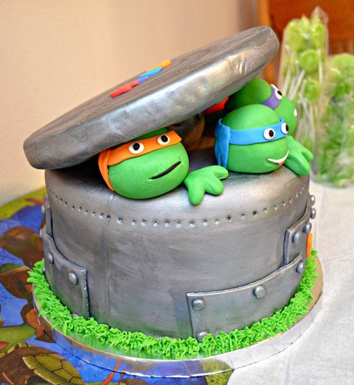 how to make a ninja turtle head cake