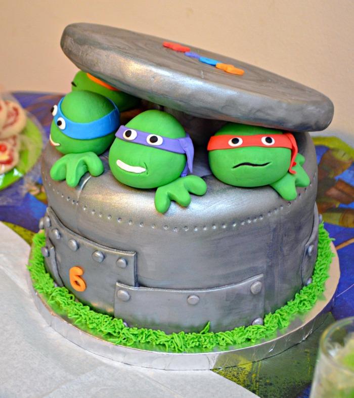 TMNT Birthday Cake One Artsy Mama