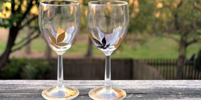 Fall Leaf Glasses