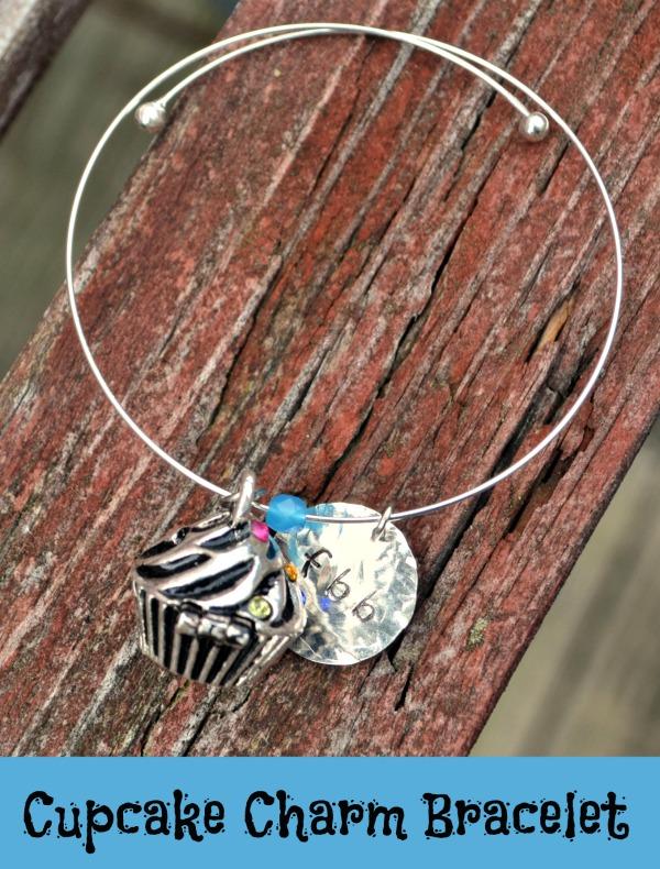 Cupcake Charm Bracelet