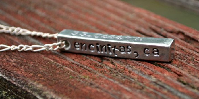 Coordinates of Home Necklace