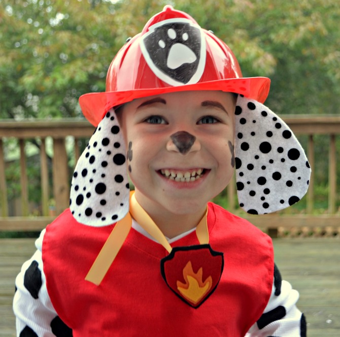 DIY Paw Patrol Marshall Costume by Amy Latta