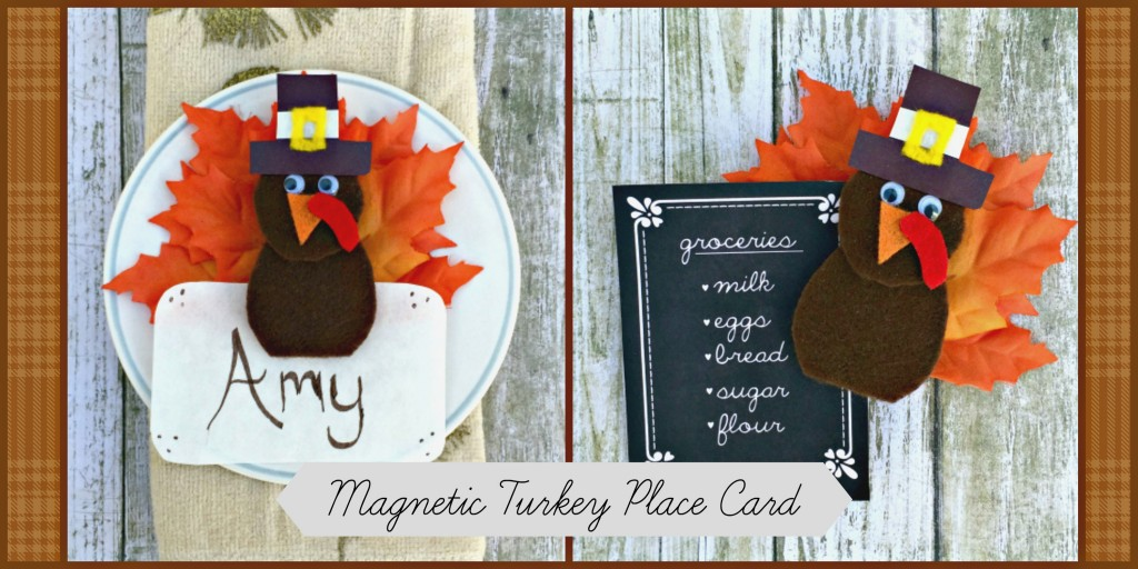 Magnetic Turkey Place Card