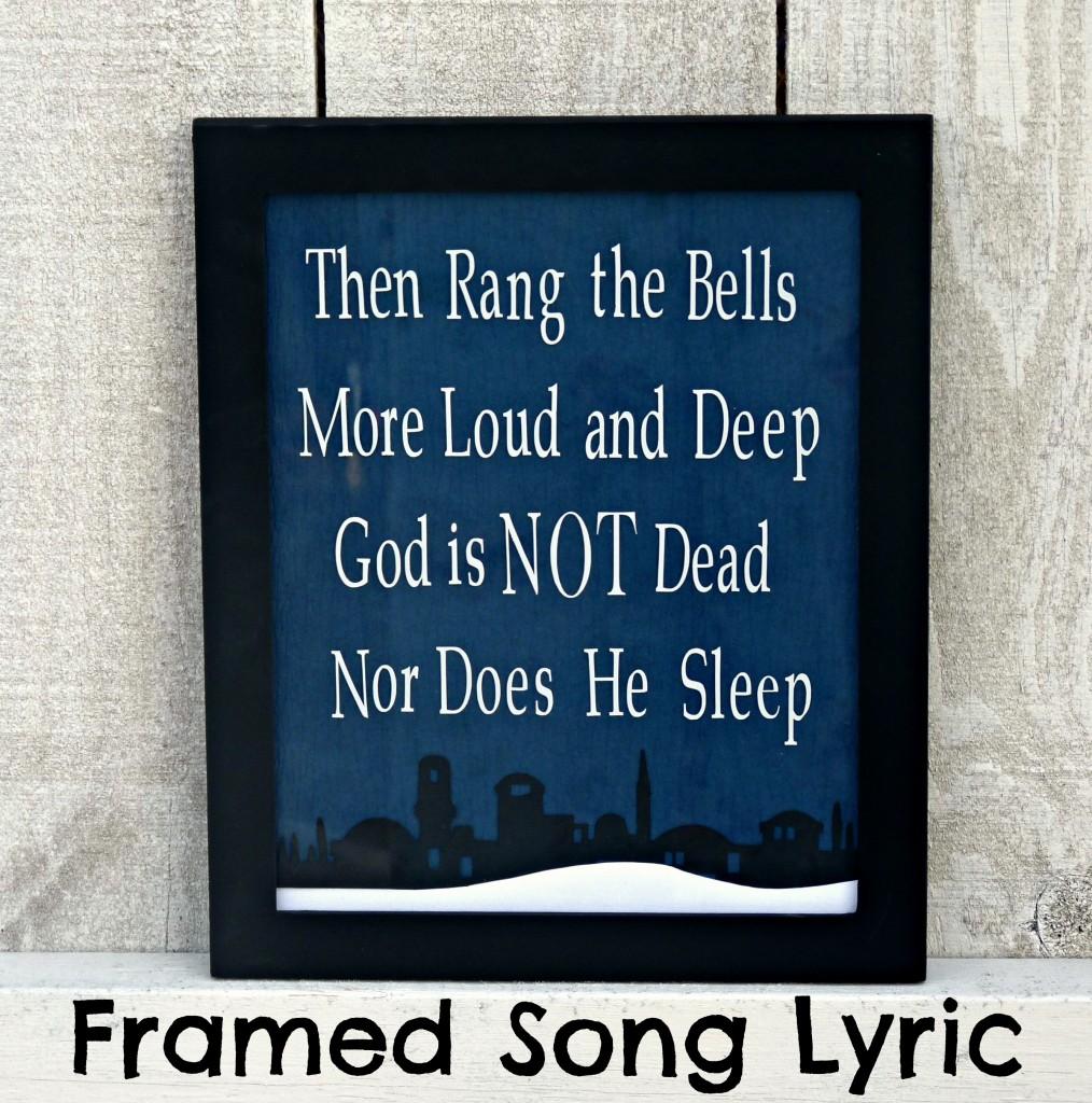 Framed Christmas Lyric