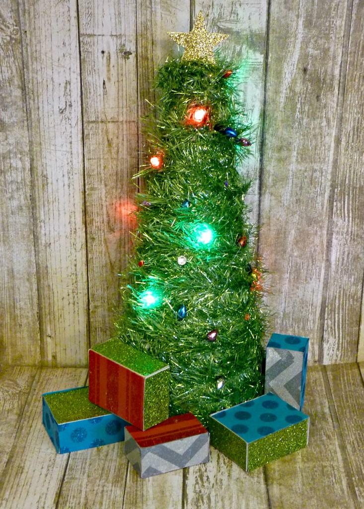 Mini light up christmas tree one artsy mama