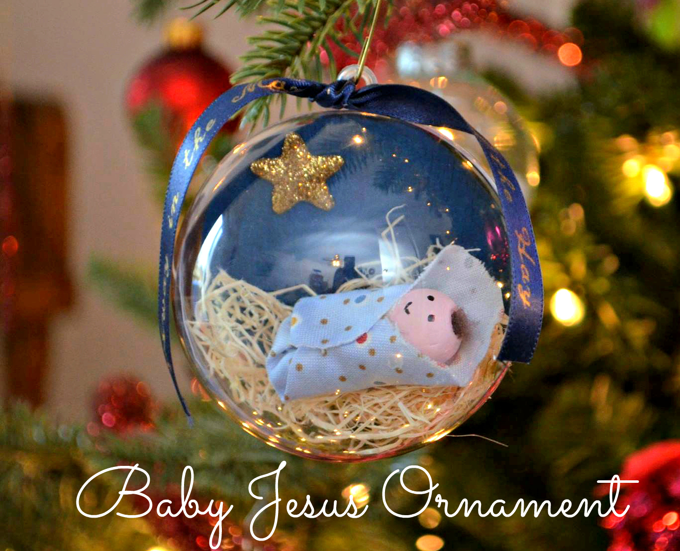 baby jesus ornament one artsy mama