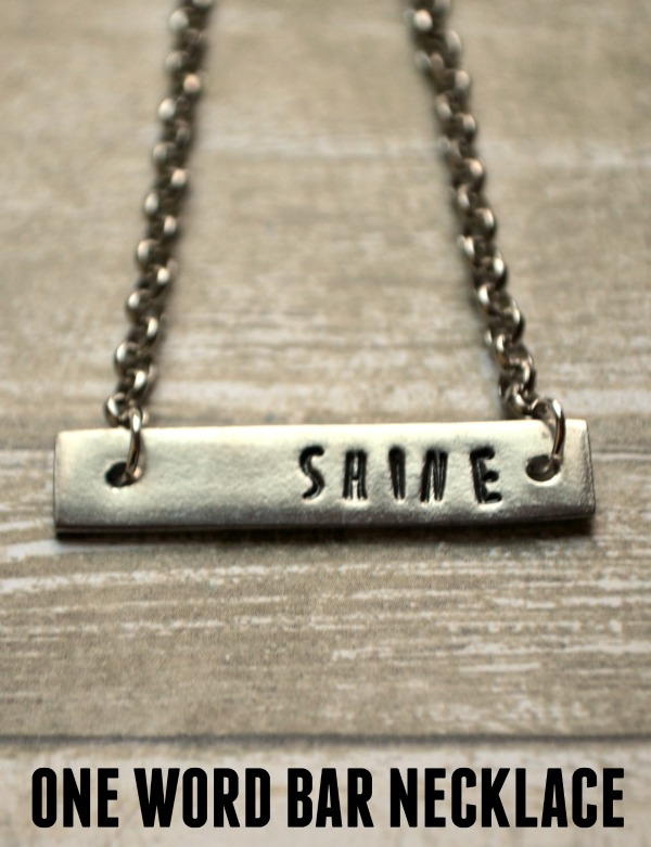 One Word Bar Necklace