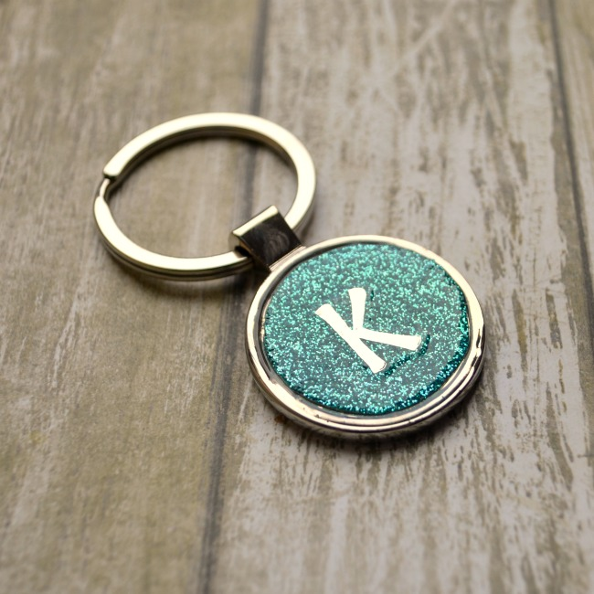 Glitter Keychains With Monograms Amy Latta Creations