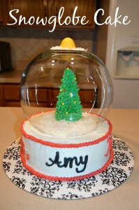 Snow Globe Cake & a Cakes.com Giveaway! - Amy Latta Creations