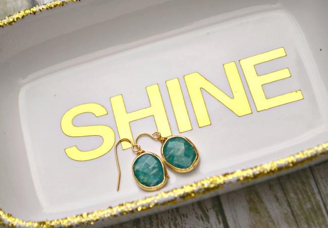 Gold Plated Gemstone Earrings