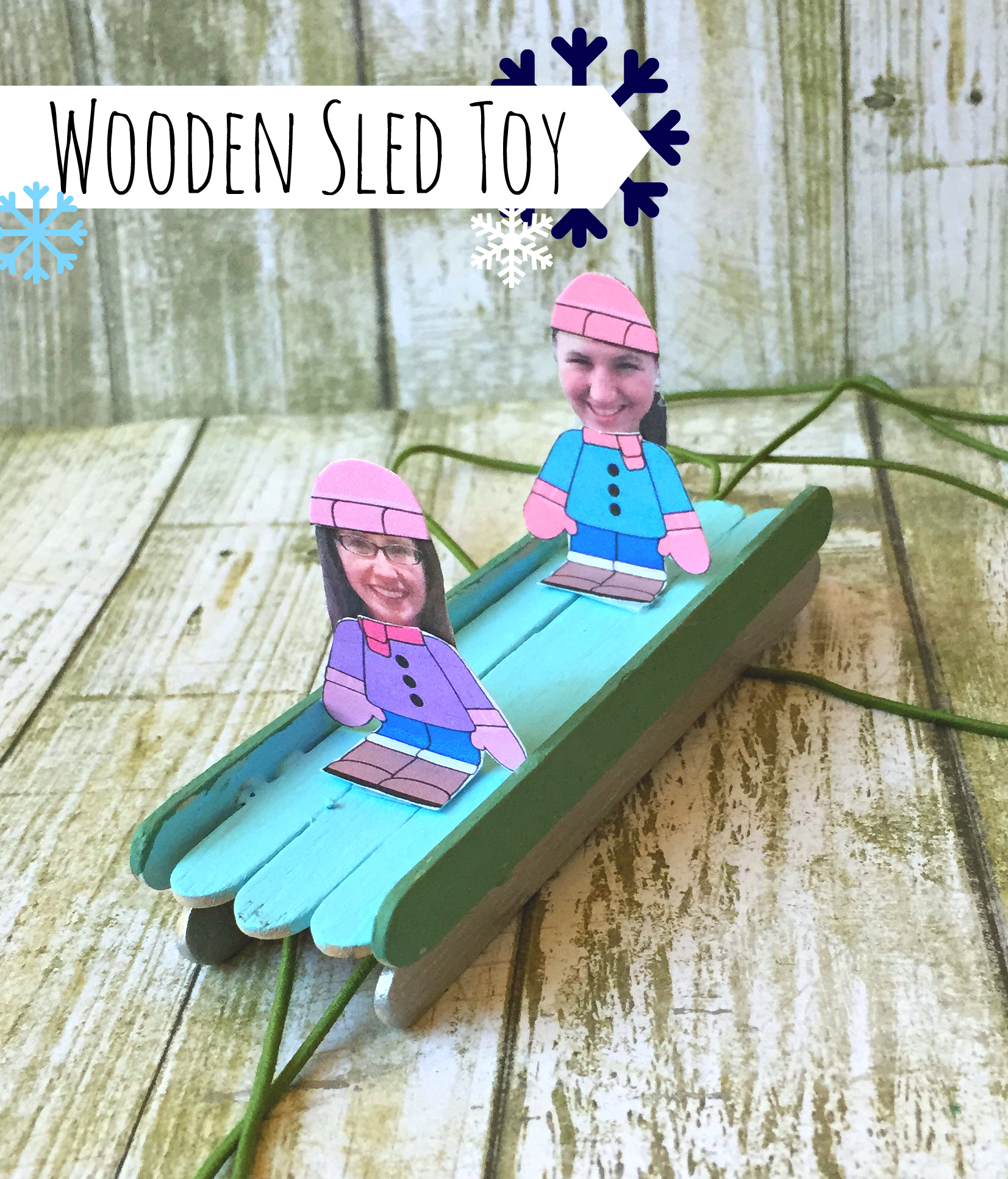 Wooden Sled Toy