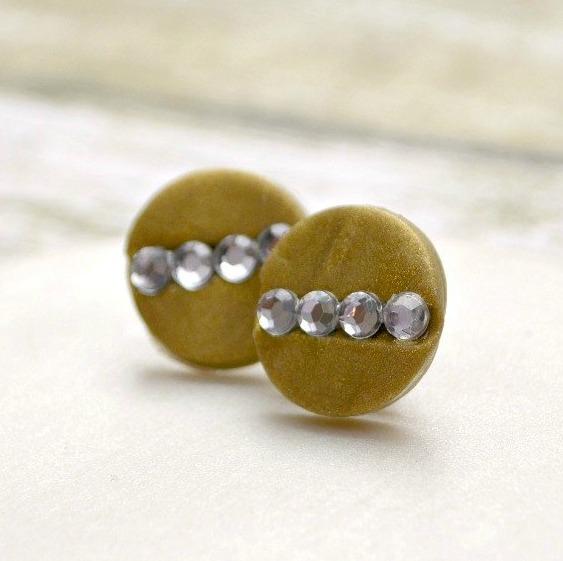 Clay Rhinestone Earrings