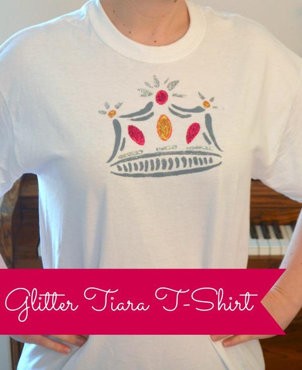 Glitter Tiara T-shirt