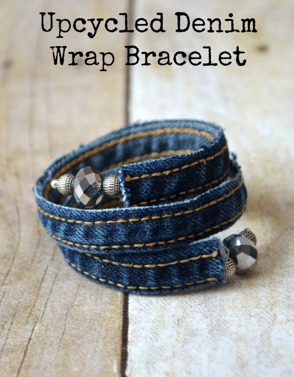 Create a Springy Warp Bracelet with Pieces of Old Denim
