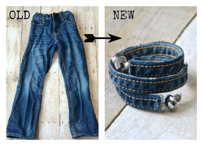 Upcycled Denim Bracelet
