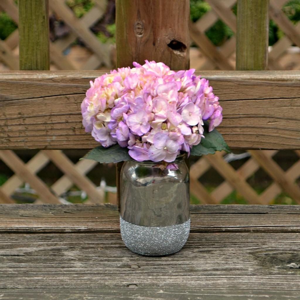 Mercury Glass and Glitter Vase